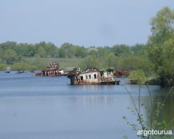 River Port Chernobyl at summer time