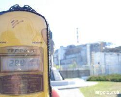 Geiger Counter with 2.88 Sv/H level of radiation.